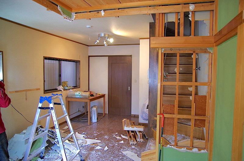 垂れ壁撤去後の和室風景