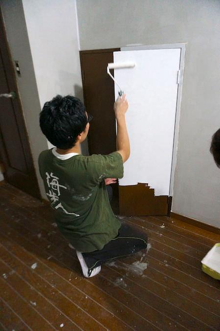 建具も塗装
