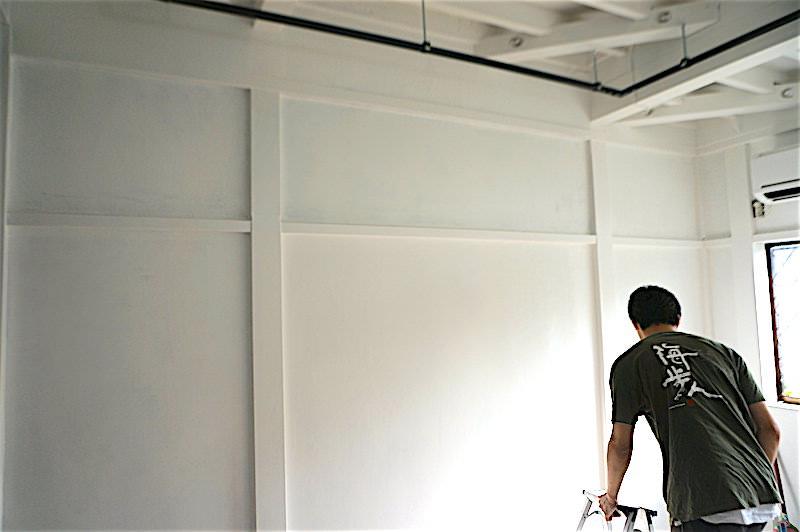 壁2度塗り