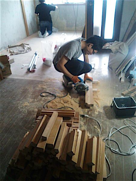 廃木材を30cmぐらいにカット