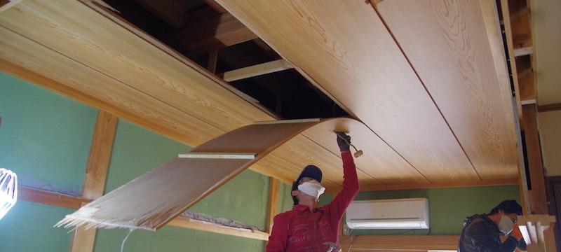 ラミネート天井の解体