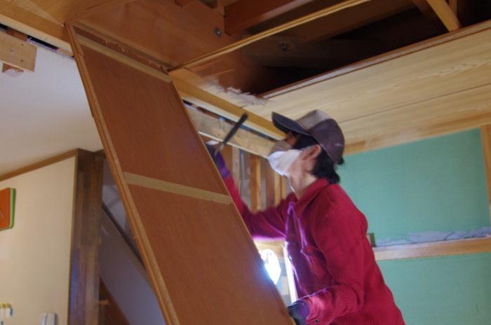 【セルフリノベーション】和室の天井を抜く