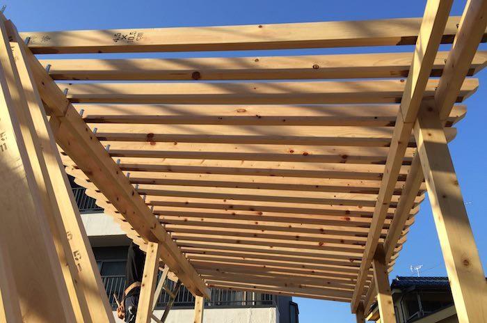 パーゴラ屋根の取り付け方法
