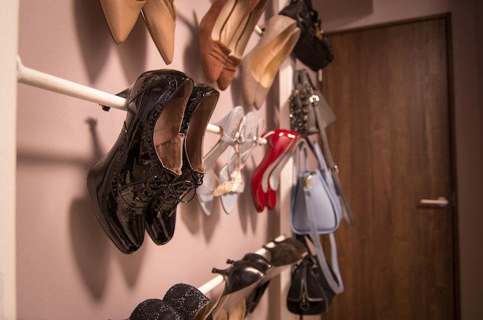 【賃貸DIY】ハイヒールを魅せる収納靴棚を作る