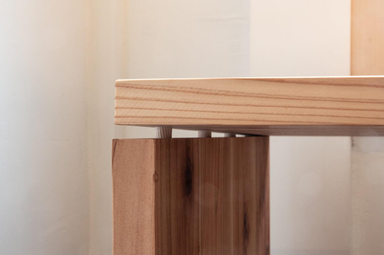 ダボ継ぎのやり方。表面にビスや釘穴を残さず家具を綺麗に見せたいときに使える手法