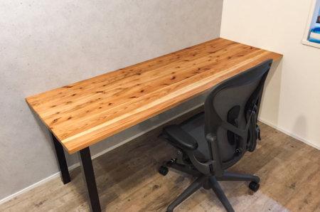 【簡単DIY】杉の集成材を使ったデスクを自作する