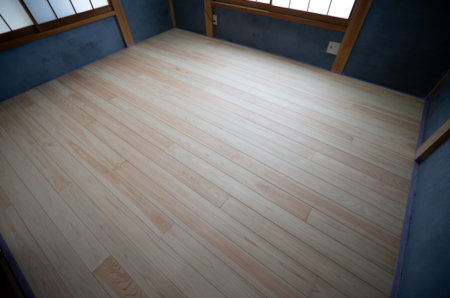 【世界一分かりやすい】独立した和室を畳から無垢フローリングにDIYする方法