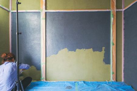 自分で粉漆喰を練る量に対して塗れる面積の目安